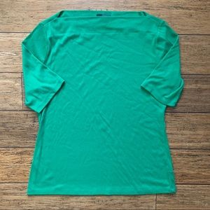 Emerald Green Boatneck Jackie Style Shirt